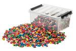 Holzperlen in Kunststoffbox 2,5 kg, bunt sortiert