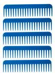 Pettine sintetico per tessitura, blu, 5 pezzi