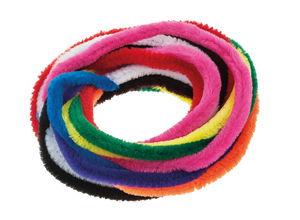 Chenilledraad (9 mm/50 cm) 10 kleuren, 10 stuks