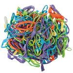 Jersey-Loops, 250 Stück bunt sortiert