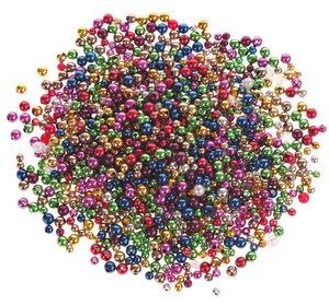 Perles métallisées -Bille- , Diam. 6 mm...,