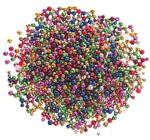 Mezcla de perlas de plástico metali (6-8 mm) 200 g