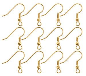 Crochets d'oreille en métal, Dim..., doré