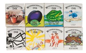 Encre William Winsor & Newton, 8 flacon de 14 ml