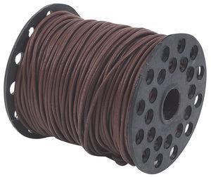 Cordón de cuero, ø 2 mm x 50 m. - marrón oscuro