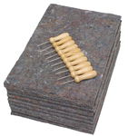 Filzunterlagen mit Prickelnadeln, Set à 10 Stück
