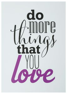 Poster Lifestyle & Statement, do more things