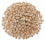 Perlas de madera al natural surtidas, 500 g