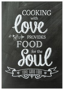 Poster Lifestyle & Statement, cooking with love