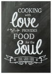Poster 'cooking with love' DIN A4