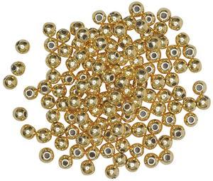 Perles métallisées -Bille-, Diam..., doré