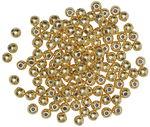 Perlas metalizadas, (3,0 mm) 125 ud., doradas