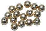 Perlas metalizadas, (8,0 mm) 15 ud., doradas