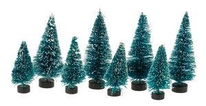 Decoratieve kerstboompjes (5 + 7 cm) 8 stuks