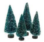 Decoratieve kerstboompjes (9 + 12 cm) 4 stuks