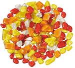Mozaïek softglas 'polygonaal', 200 gr., rood/geel