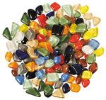 Mozaïek 'softglas' polygonaal, 200 gr., bonte mix