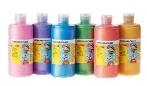 Fingerfarben, pearl 6 x 500 ml