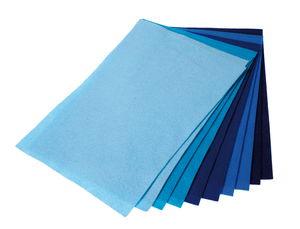 Knutselvilt (1,5x200x300 mm) blauw, 10 stuks