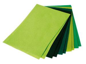 Knutselvilt (1,5x200x300 mm) groen, 10 stuks