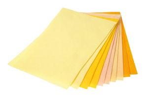 Knutselvilt (1,5x200x300 mm) geel/oranje 10 stuks