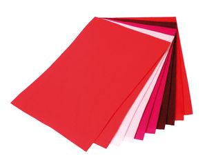 Feutrine de bricolage, 10..., tons rouges