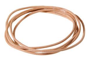Cordon en cuir, Dim. (øxL): 2..., naturel