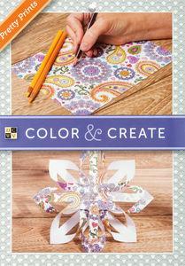 Kleurboek Color & Create 'Pretty Prints',  65 vel