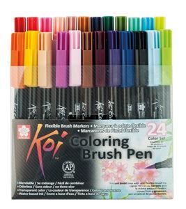 Koi Coloring Brush penseelstiften set, 24 stuks