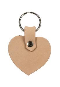 Leder-Schlüsselanhänger Herz (50 x 40 mm)