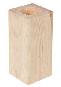 Teelichthalter Holz Rechteck (6 x 5,8 x 13 cm)