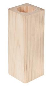 Teelichthalter Holz Rechteck (6 x 5,8 x 16 cm)