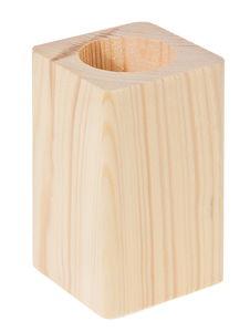 Teelichthalter Holz Rechteck (6 x 5,8 x 10 cm)