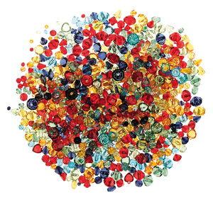 Diamantes acrílicos para bisutería, 250 ud.