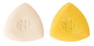 Kleermakerskrijt, geel/wit, 2 stuks