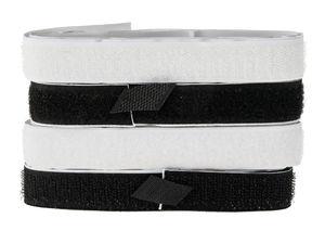 Klettband selbstklebend, weiß/schwarz (2 x 70 cm)