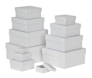 Cadeaudoosjes - vierkant, wit, 12 stuks