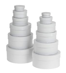 Cadeaudoosjes - rond, wit, 12 stuks