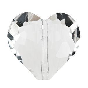 Perle à facettes en verre -Coeur-, Di...,