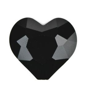 Hart van geslepen glas, zwart (20 mm)
