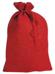 Jute zak onbedrukt (17 x 25 cm) rood