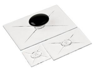 Bloques acrílicos para sellos de silicona, 3 ud.