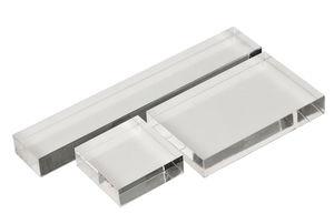 Acryl stempelblok set (4x4/8x5/14,5x2,5cm)