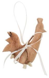 Houten haan, ca. 14 x 11 cm, naturel, per stuk