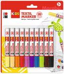 KIDS Textilstifte Basic 10er-Set, farbig sortiert