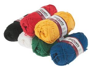 Sparset Handarbeitsgarn Lyric Grundfarben (6x50 g)