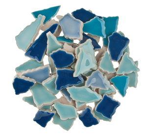 Scherben-Mosaik, 500 g blau-mix    (7 mm)