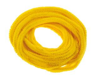 Chenilledraad, 10 stuks, banaangeel (ca. 8 mm)