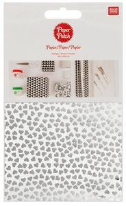Paper Patch papier - Harten hot foil, 3 vel