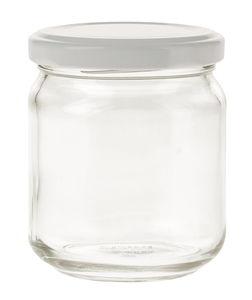 Glas mit Deckel (6,5 x 8 cm)